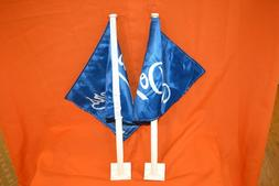 1 Lot of 2 Los Angeles Dodgers Car Flags, MLB Licensed, Two