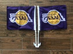Los Angeles Lakers NBA 11X14 Window Mount 2-Sided Car Flags