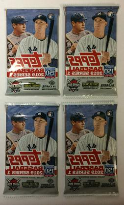4 pack lot 2019 topps series 1