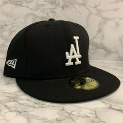 NEW ERA 59FIFTY FITTED LOS ANGELES DODGERS BLACK/WHITE LOGO