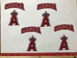 8 pc Los Angeles Angels MBL Fabric Applique Iron On Ons