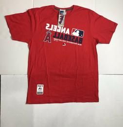 Brand New MLB Men's Los Angeles Angels  Majestic Cotton T-Sh