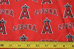 """By 1/2 Yd, 60"""" Wide, Los Angeles Angels Cotton Quilt Fabric,"""