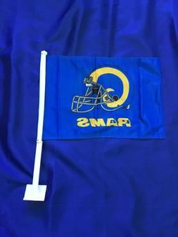 Double-Sided Retro Style Los Angeles Rams Car Flag