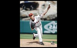 JERED WEAVER Los Angeles Angels Anaheim ACE Premium NBA 16x2