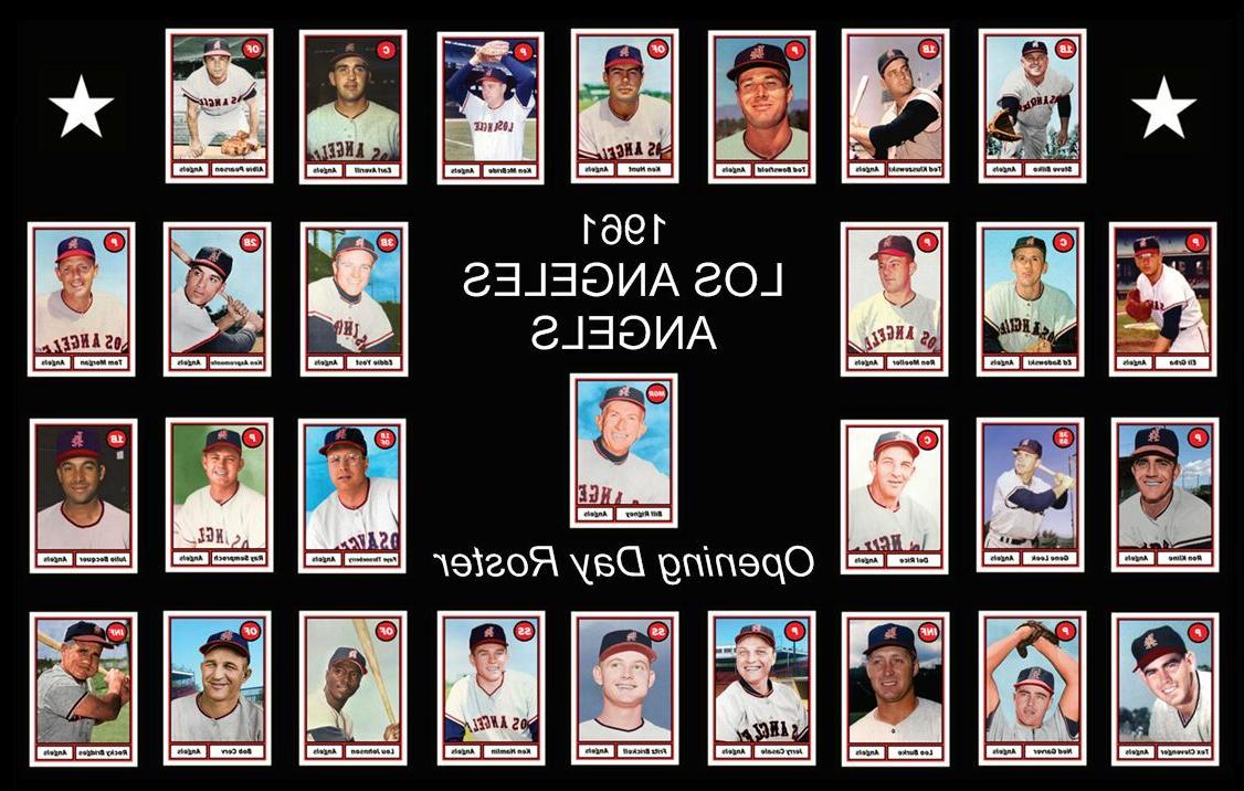 1961 los angeles angels baseball card complete