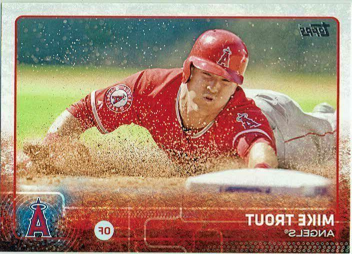 2015 topps baseball 300 mike trout los