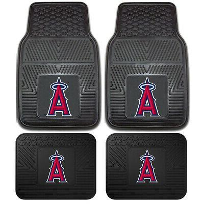 LOS ANGELES ANGELS SQUARES FLEECE STEERING WHEEL COVER SET