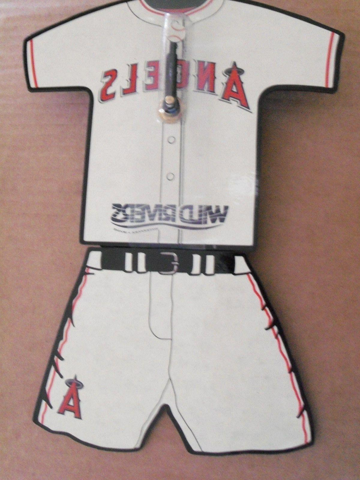 l a angels clock white jersey