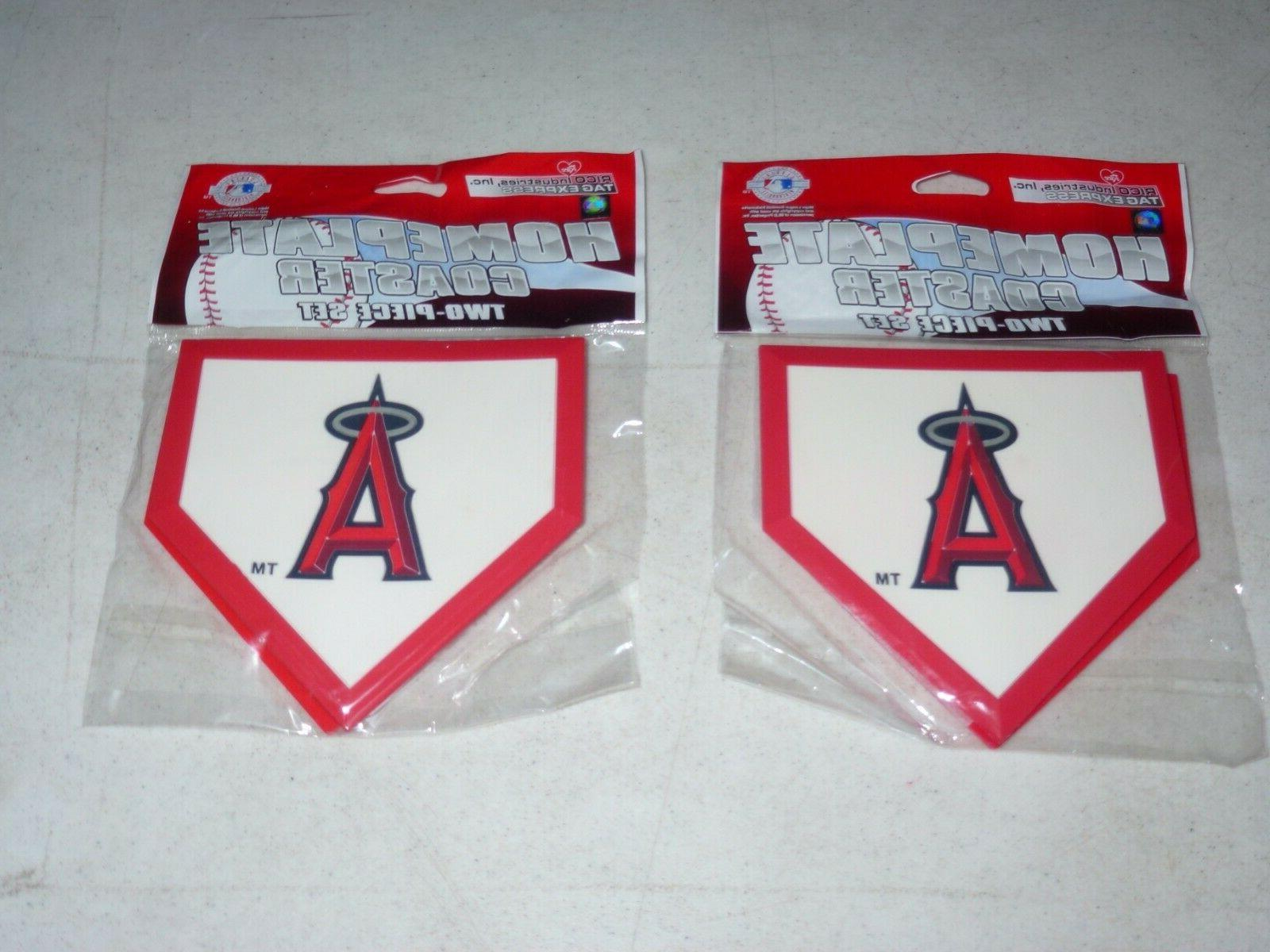 LOS ANGELES Anaheim ANGELS Home Plate Coaster Set  RICO  NIP