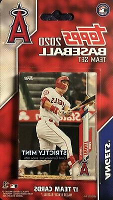 los angeles angels 2020 topps factory team