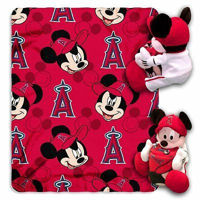 los angeles angels mlb mickey mouse throw