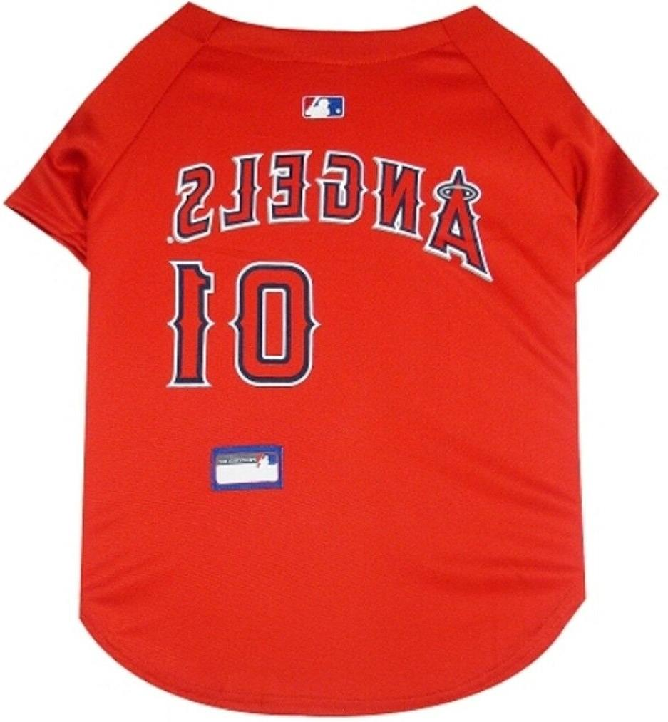 los angeles angels pet jersey x large
