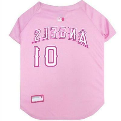 los angeles angels pink pet jersey from