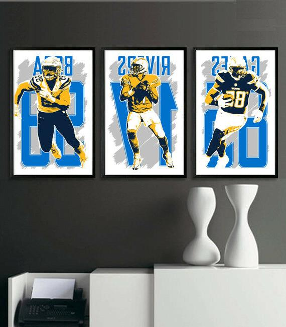 los angeles chargers art print poster fan