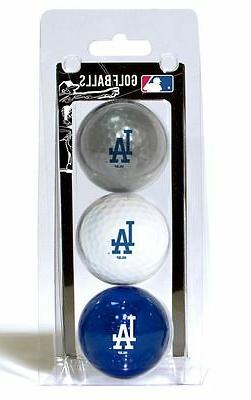 Los Angeles Dodgers 3 Pack Golf Balls  LA MLB White Golfing