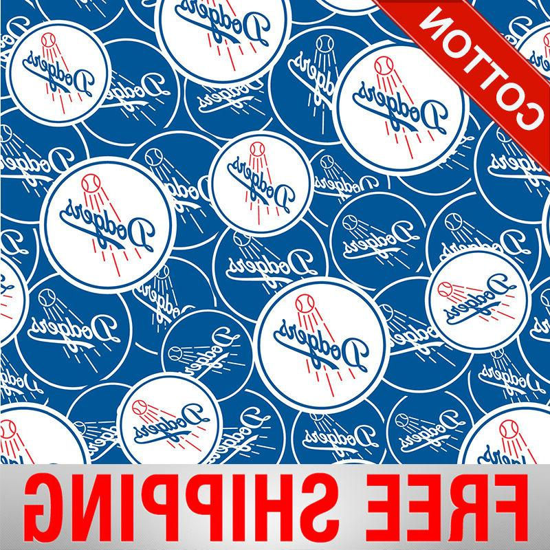 los angeles dodgers mlb cotton fabric style