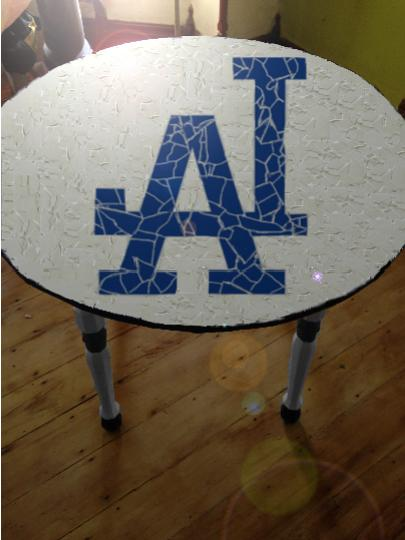 los angeles dodgers tile table