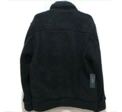 Triot Los Men's Black Sherpa Coat Medium