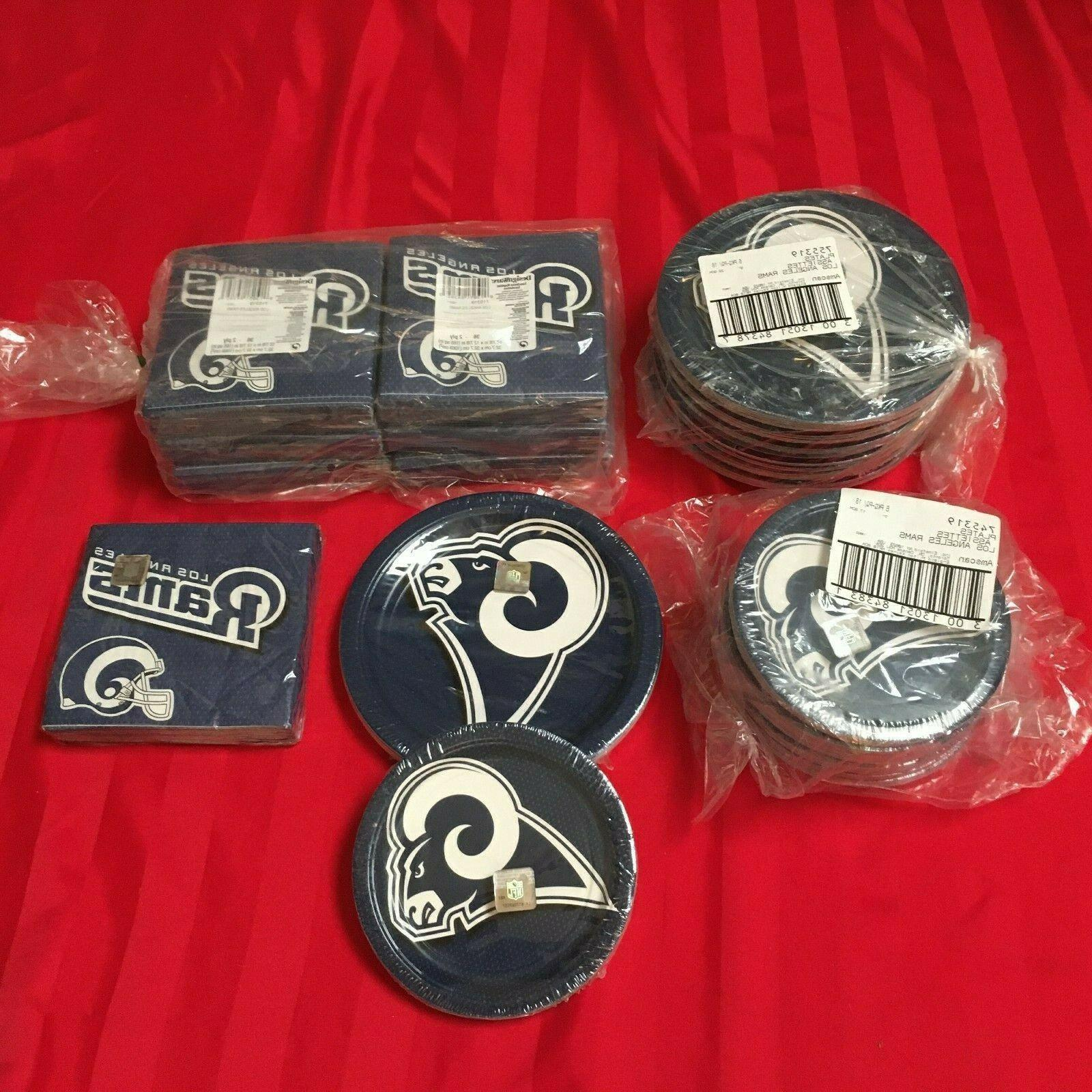 los angeles rams paper plates and napkins