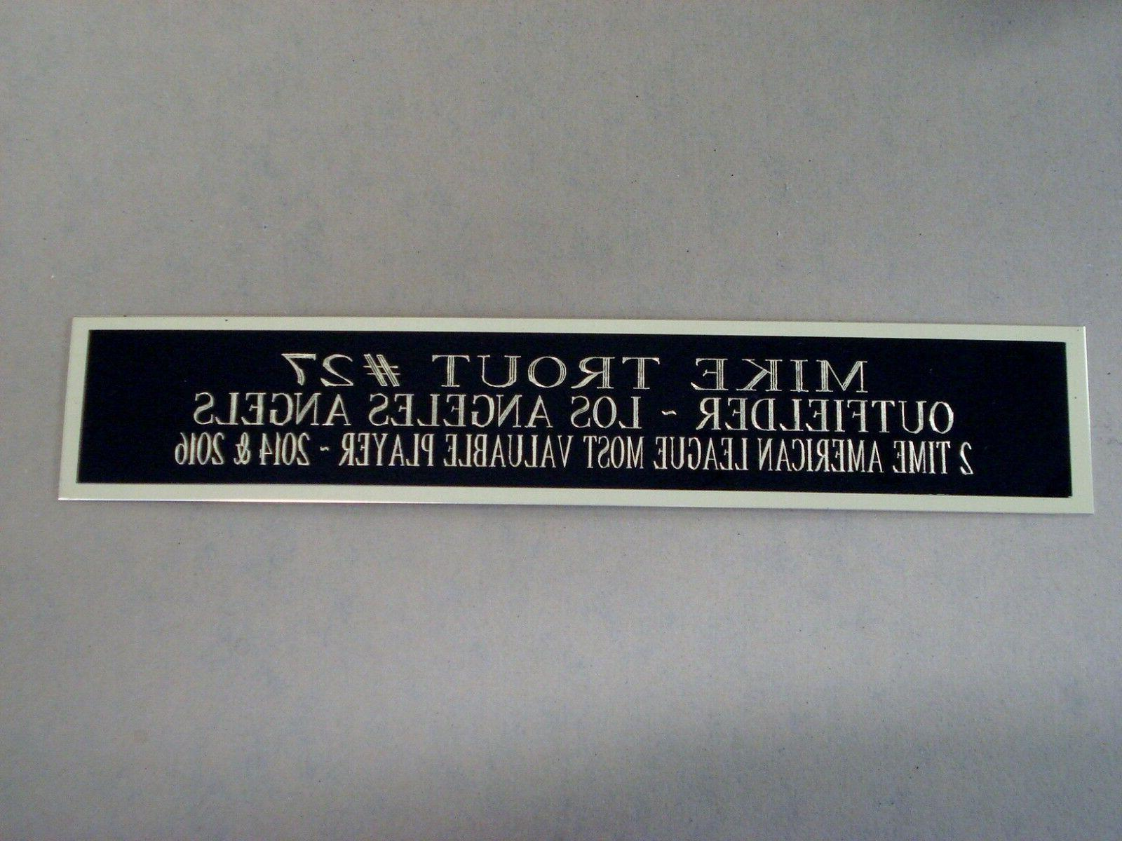 mike trout los angeles angels nameplate