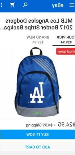 MLB Los Angeles Dodgers Border Stripe Backpack