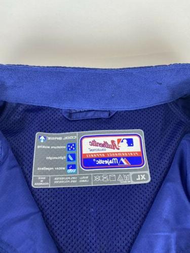 New Los Dodgers Majestic 1/4 Pullover Windbreaker XL NWT
