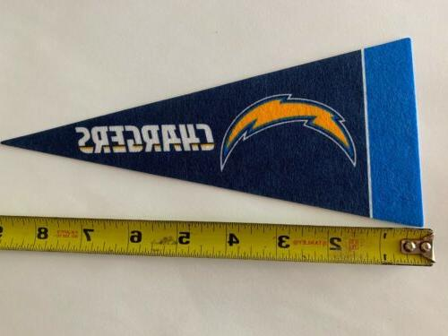 """NFL Los Angeles Chargers Mini Pennant Flag 4""""x9"""" NEW Football"""