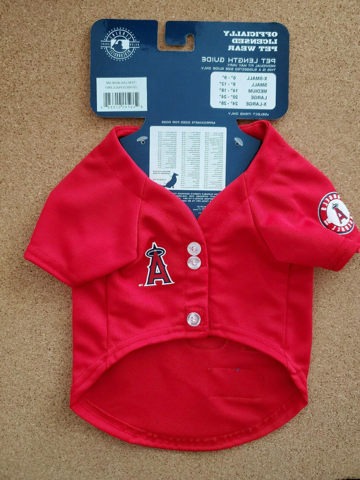 official mlb los angeles angels pet jersey