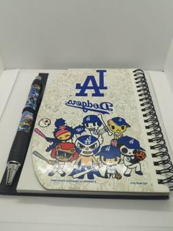 MLB LA Los Angeles Dodgers notepad journal with pen  scratch