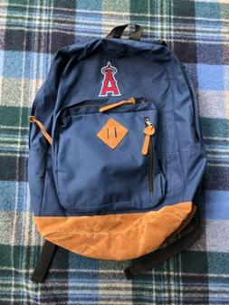 Los Angeles Anaheim Angels Baseball Backpack Mens Blue Brown