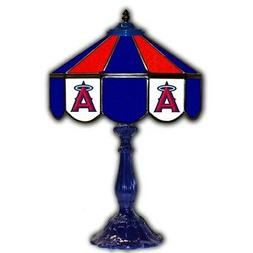 los angeles angels 21 glass table lamp