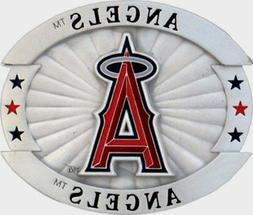 "Los Angeles Anaheim Angels 4"" Over-sized Pewter Metal Belt B"