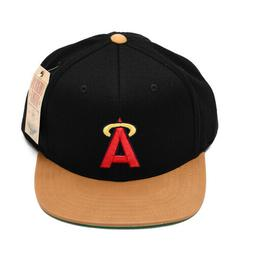 Los Angeles Angels Baseball Flat Brim Black Halo MLB Hat Cap