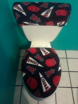 LOS ANGELES ANGELS BLUE FLEECE TOILET SEAT COVER SET clearan