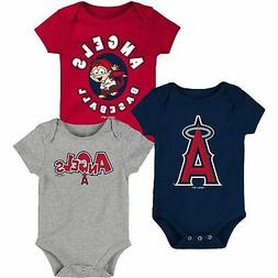 Los Angeles Angels Infant Everyday Fan Three-Pack Bodysuit S