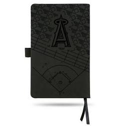 Los Angeles Angels Laser Engraved Small Notepad - Black