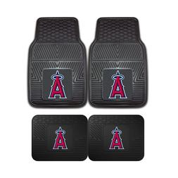 Los Angeles Angels MLB 2pc and 4pc Mat Sets - Heavy Duty-Car