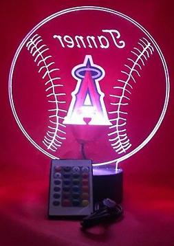 Los Angeles Angels MLB Baseball Light Up Light Lamp LED Remo