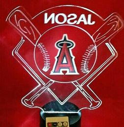 Los Angeles Angels MLB Baseball Personalize FREE Night Light