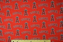 Los Angeles Angels MLB Cotton Fabric-$8.99/yard