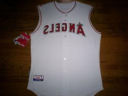 LOS ANGELES ANGELS NEW MLB MAJESTIC AUTHENTIC SLEEVELESS COO