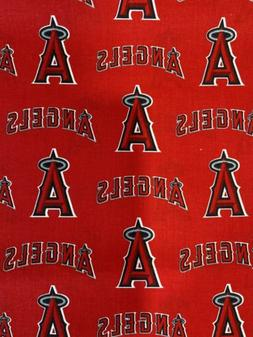 Los Angeles Angels Of Anaheim Cotton Fabric 1/4 Yard X 58 In