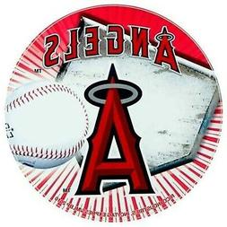 """Los Angeles Angels of Anaheim Decal 4"""" Round Auto Home Bumpe"""