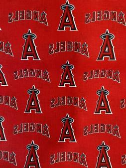 Los Angeles Angels Of Anaheim Fabric 1/4 Yard X 58 Inches Co