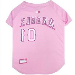Los Angeles Angels Pink Pet Jersey from StayGoldenDoodle.com