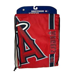 Los Angeles Angels Side Stripe Drawstring Backpack