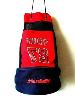 Los Angeles Angels Trout #27 Back Pack Sport Tote Bag  W/Bot