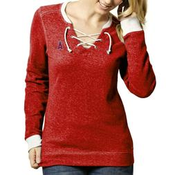 Antigua Los Angeles Angels Women's Rally Lace-Up Heathered S