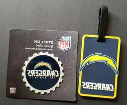 Los Angeles Chargers Gift Set: Luggage Tag & Stick-on Emblem